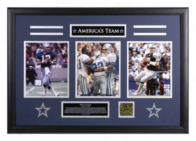 Dallas Cowboys - America's Team - 8x10 Photographs With Turf And Plqte
