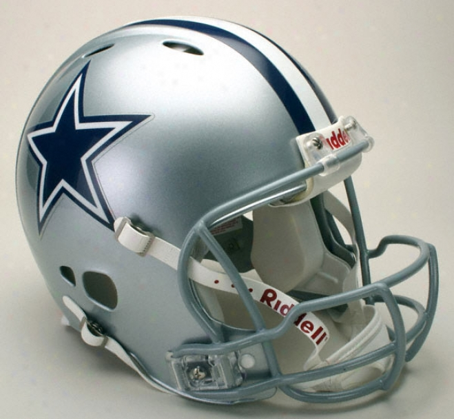 Dallas Cowboys Trustworthy Pro Thread Revolution Riddell Full Size Helmet