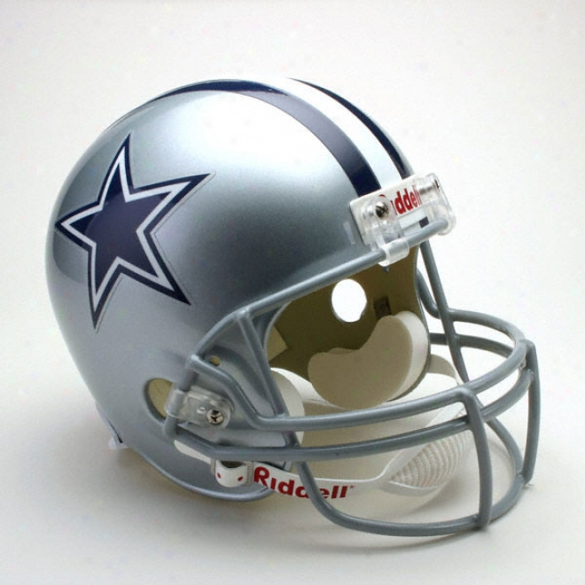 Dallas Cowboys Deluxe Replica Riddell Full Size Helmet