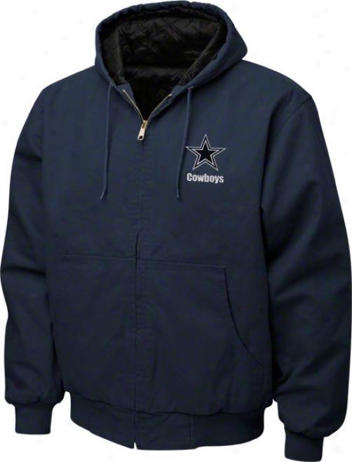 Dallas Cowboys Jackeet: Navy Reebok Cumberland Jacket