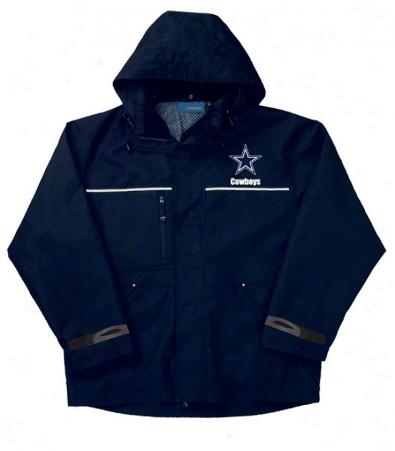 Dallas Cowboys Jacket: Navy Reebok Yukon Jacket