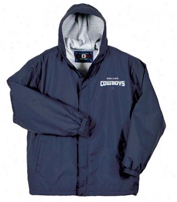 Dallas Cowboys Legacy Nylon Full Zip Hooded Jacket