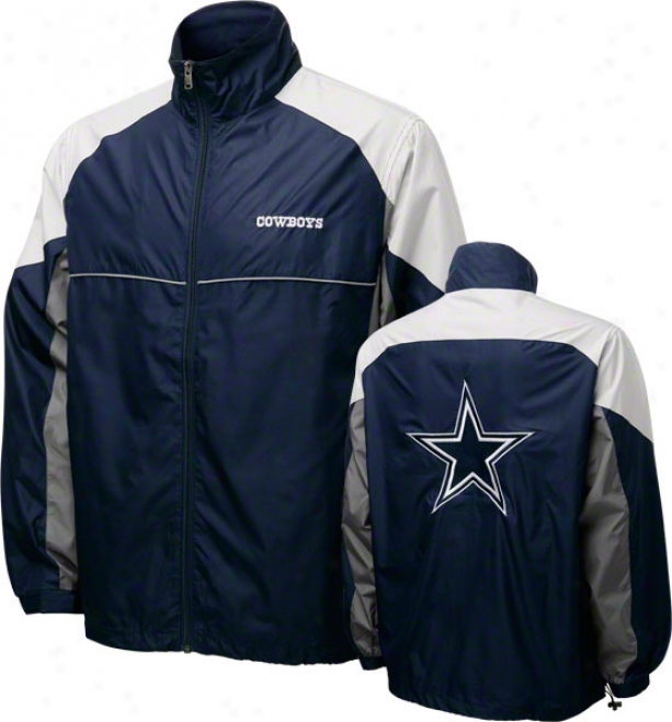 Dallas Cowboys Navy Reebok Performer Jacket