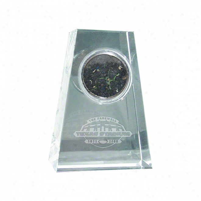 Dallas Cowboys Tapere dCrystal With Logo & Game Used Turf