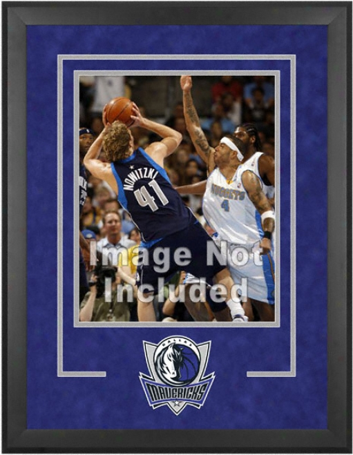 Dallas Mavericks 16x20 Vertical Setup Frame With Team Logo