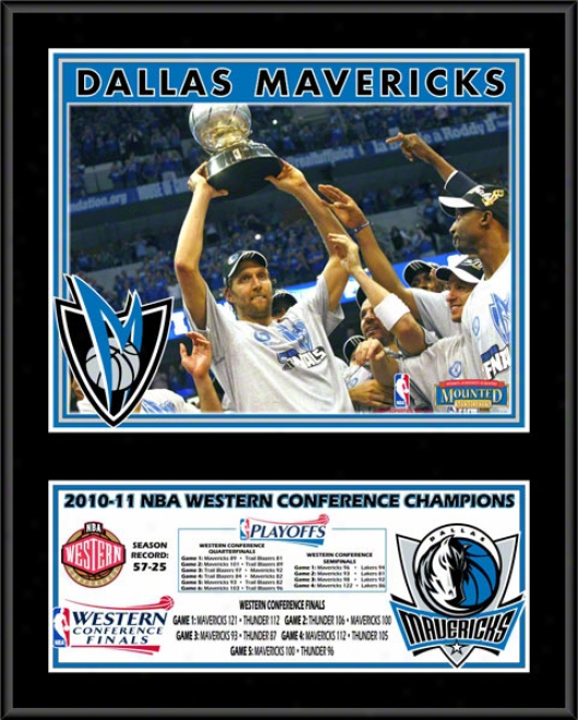 Dallas Mavericks 2010-2011 Western Meeting for consultation Champions Sublimated 12x15 Color Plaque