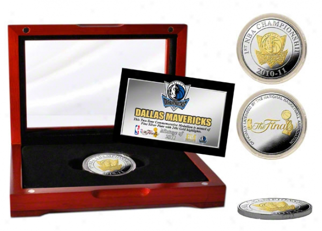 Dallas Mavericks 2011 Nba Champions 2-tone Coin