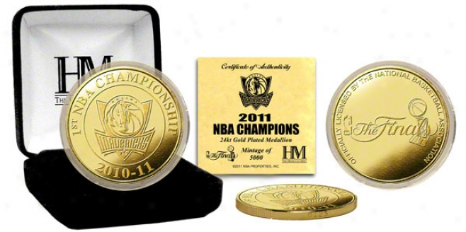 Dallas Mavericks 2011 Nba Champions 24kt Gold Coin