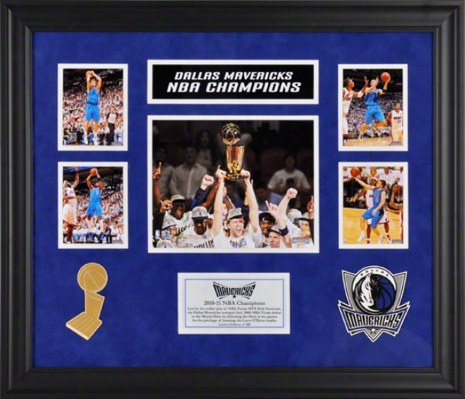 Dallas Maverricks Framed 5-photograph 2010-2011 Nba Champions Victory Collage