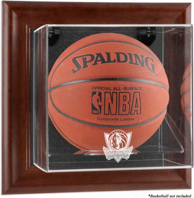 Dallas Mavericks Framed Wall Mounted Logo Basketball Display Case