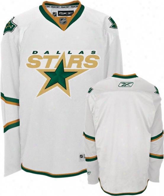 Dallas Stars Reebok White Premier Nhl Jersey