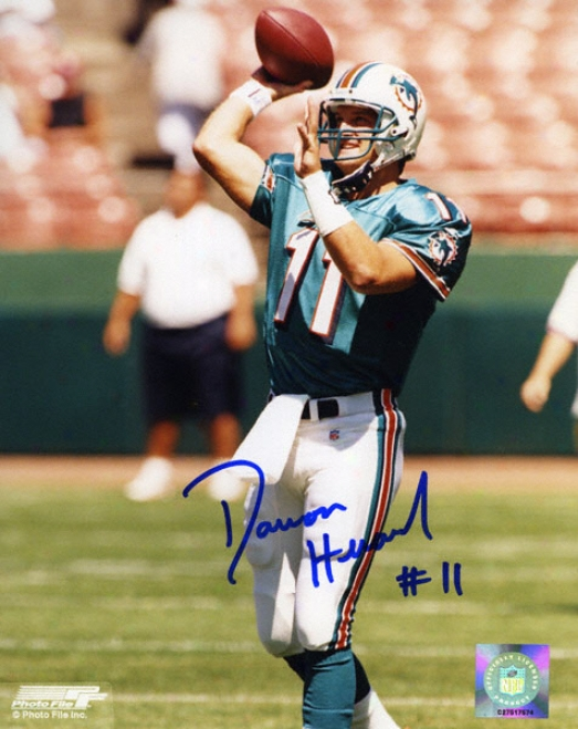 Damon Huard Miami Dolphins 8x10 Autographed Photograph