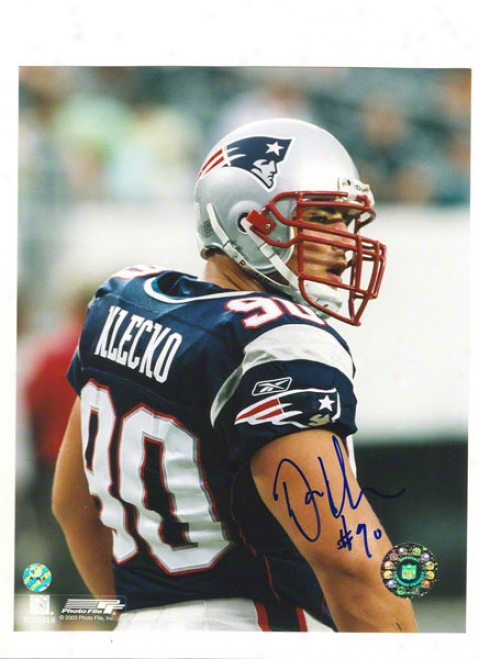Dan Klecko Autigraphed New England Patriots 8x10 Photo