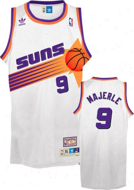 Dan Majerle Jersey: Adidas White Throwback Swingman #9 Phoenix Suns Jersey