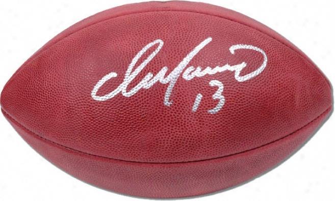 Dan Marino Autographed Footbali  Details: Pro Football
