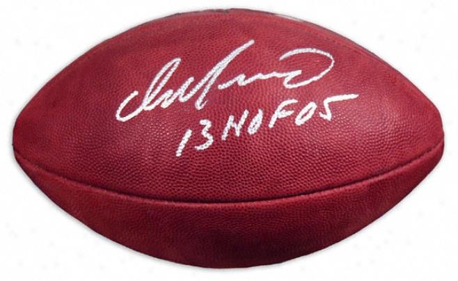 Dan Marino Autographed Football  Details: Wilson Pro Football, Hof 05