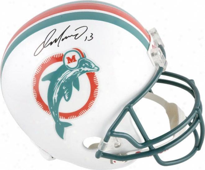 Dan Mrino Autographed Helmet  Details: Miami Dolphins, Riddell Replica Helmet