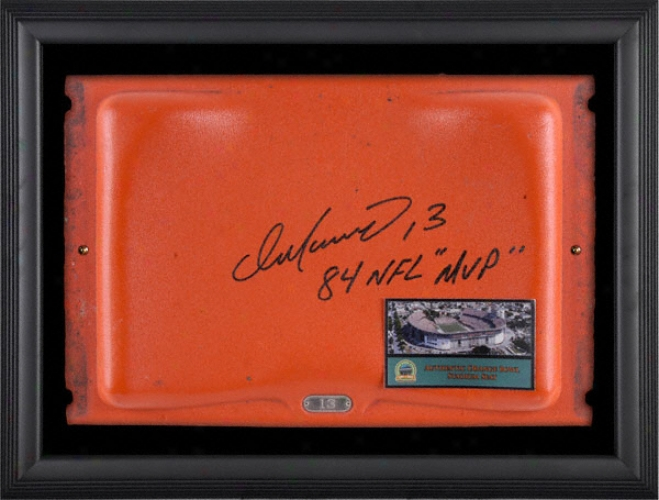 Dqn Marino Autographed Orange Bowl Seat Black Framedd Shadowbox With 1984 Nfl Mvp Inscription