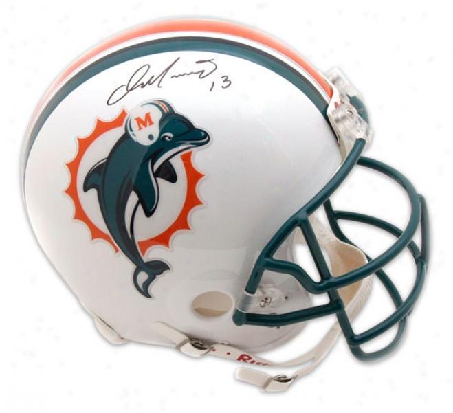 Dan Marino Autographed Pro-line Helmet  Details: Miami Dolphins, Authentic Riddwll Helmet