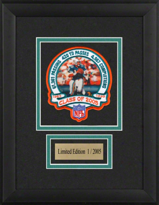 Dan Marino Framed Hall Of Fame Patch Emblem With Engraved Nameplate