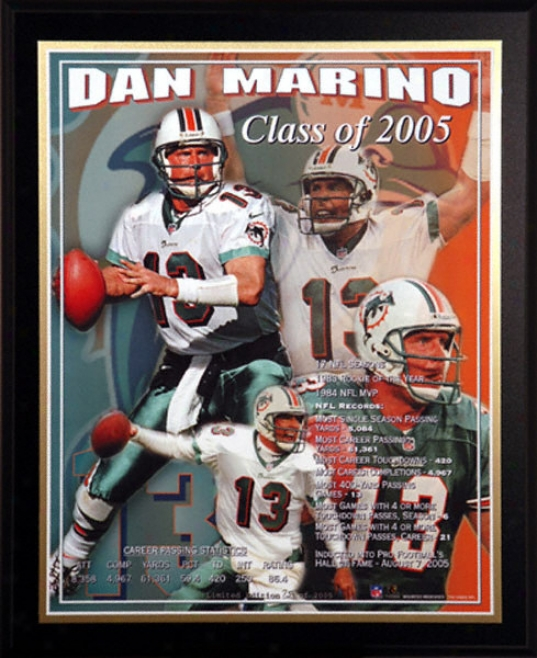 Dan Marino Entry  Of Fame 2005 Healy Plaque