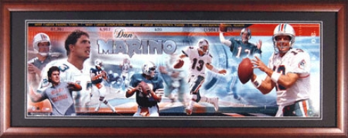 Dan Marino Miami Dolphins Framed Unsigned Panoramic Photograph