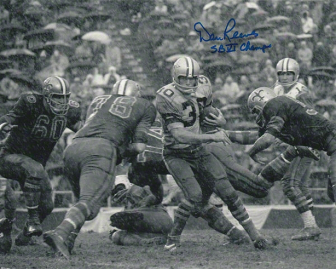 Dan Reevex Dallas Cowboys Autographed 8x10 Photograph With Sb Vi Champs Inscription