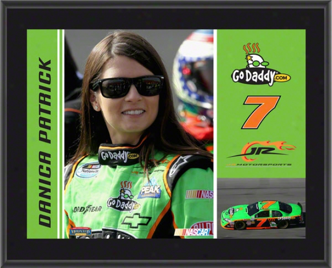 Danica Patrick Plaque  Details: #7 Godaddy.com Car, Jr Motorsports, Sublimated, 10x13, Nascar Plasue
