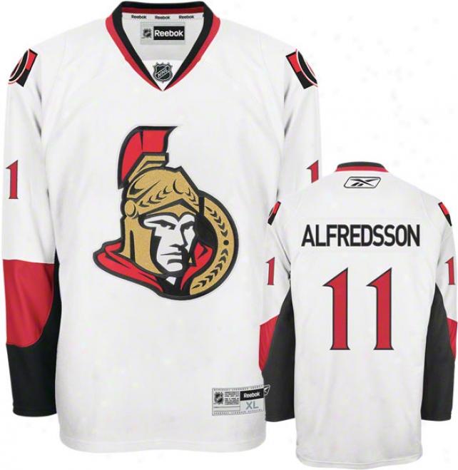 Daniel Alfredsson Jersey: Reebok White #11 Ottawa Senarors Premier Jersey