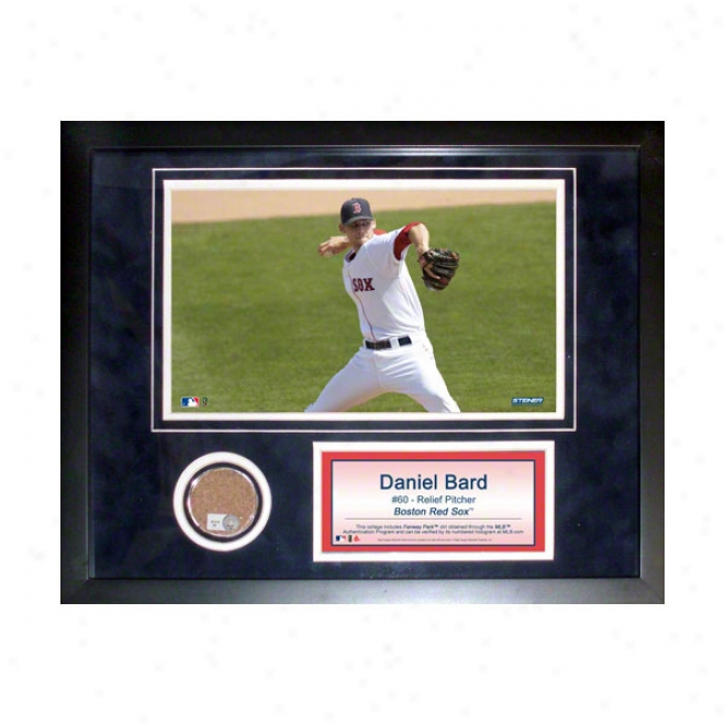 Daniel Bard Boston Red Sox 11x14 Framed Collage With Quarry Used Dirt, Photo & Nameplate