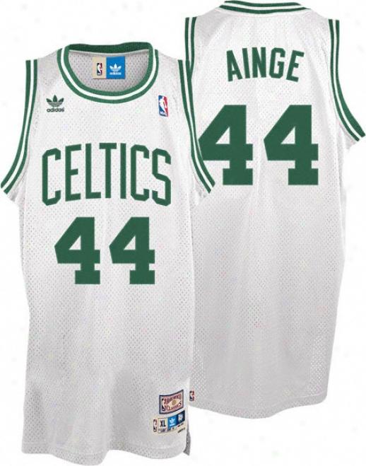 Danny Ainge Jresey: Adidas White Throwback Swnigman #44 Boston Celtics Jersey