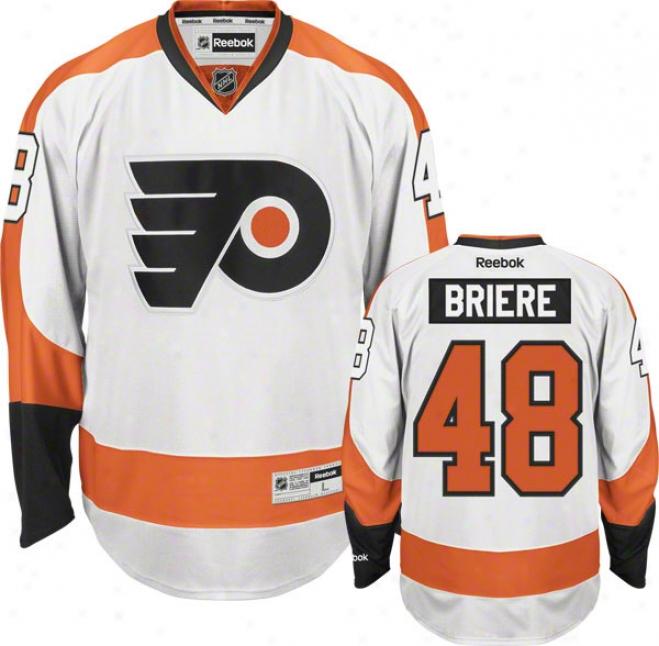 Danny rBiere Jersey:-Reebok White #48 Philadelphia Flyers Premier Jeesey
