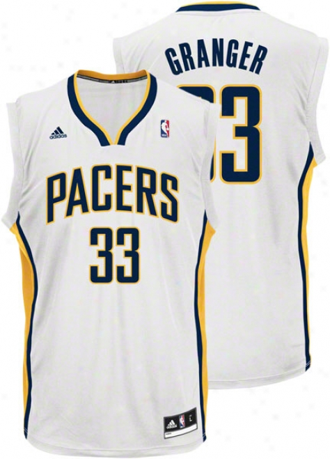 Danny Granger Jersey: Adidas Revolution 30 White Replica #33 Indiana Pacers Jersey