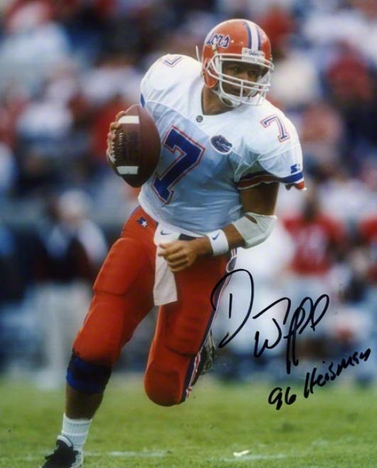 Danny Wuerffel Florida Gators Autographed 8x10 Photo W/ Inscription &quot96 Heisman&quot