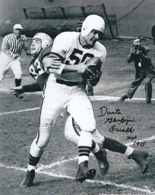 Damte Lavelli Autographd Photograph  Details: Cleveland Browns, Hof Gluefingers Inscription, 8x10