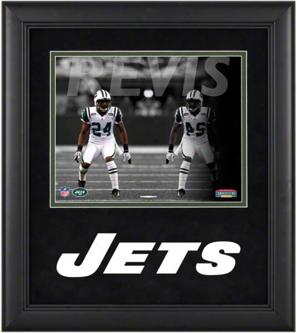 Darrelle Revis Framed Photograph  Details: 8x10, Refledtions, Novel York Jets