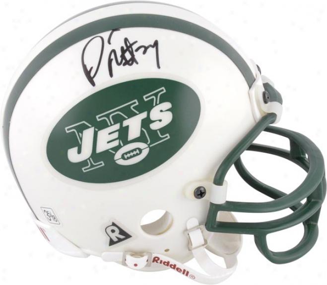 Darrelle Revis New Yofk Jets Autorgaphed Mini Helmet