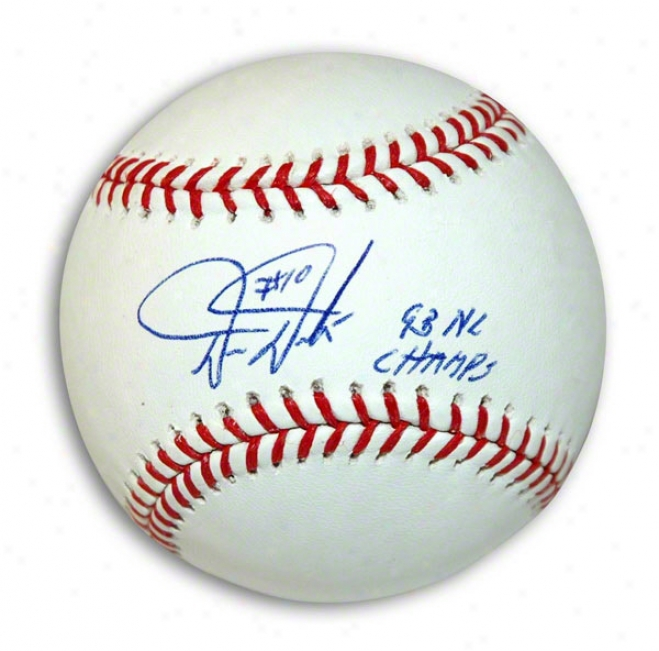Darren Daulton Autographed Mlb Baseball Inscribed 93 Nl Champs