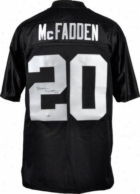 Darren Mcfadden Autographed Jersey  Details: Oakland Raiders, Reebok Eqt Jersey