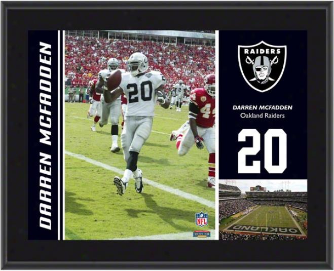 Darren Mcfadden Plaque  Details: Oakland Raiders, Sublimated, 10x13, Nfl Brooch