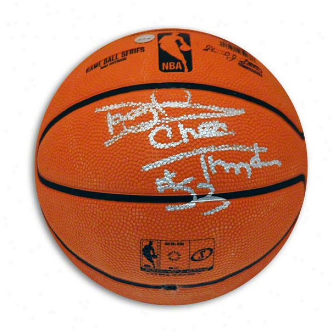 Darryl Dawkins Autographed Mini Basketball Inscribed Chocolate Thunder