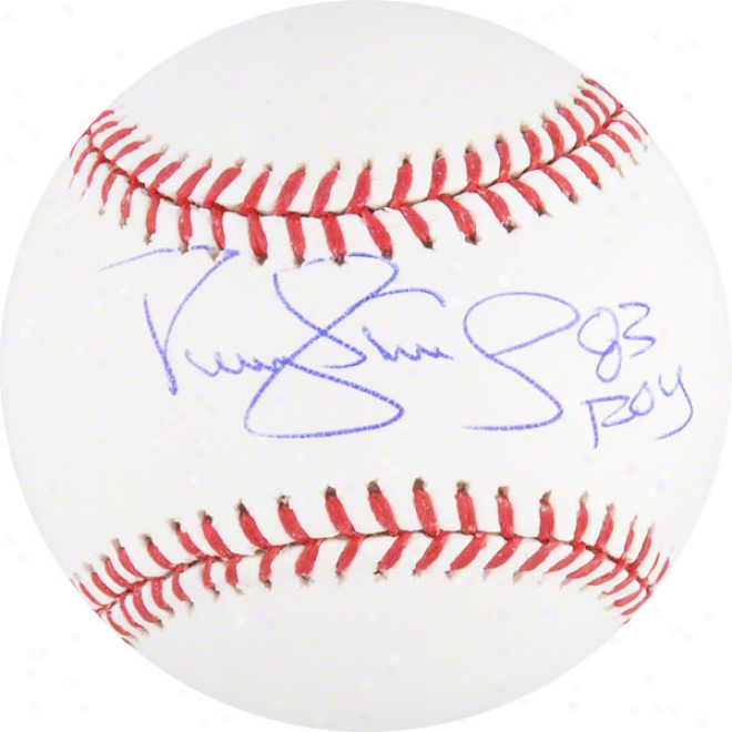 Darryl Strawberry Autographed Baseball  Particulars: 83 Roy Inscription