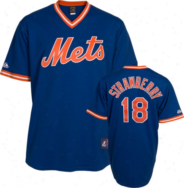 Darryl Strawberry New York Mets Royal Cooperstown Replica Jersey