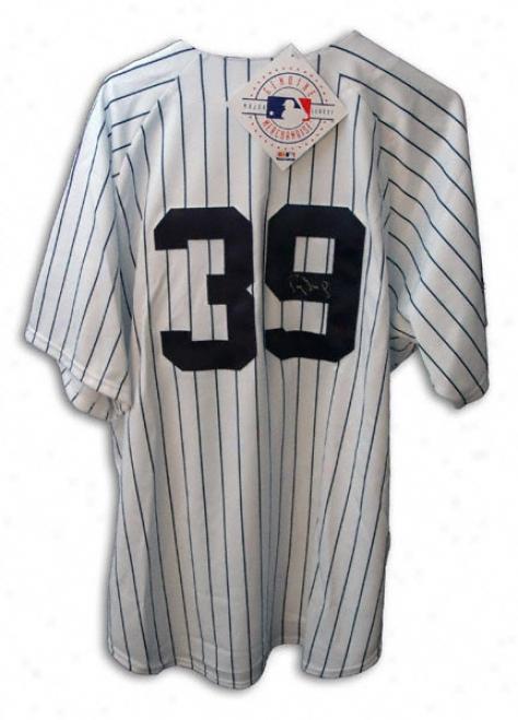 Darrhl StrawberryN ew York Yankees Autographed Majestic Jersey