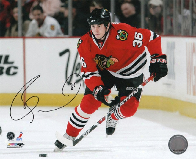 Dave Bolland Chicago Blackhawks - Action In Reed - Autographed 8x10 Photograph