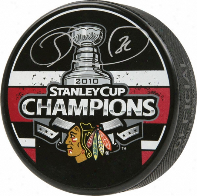 Dave Bolland Chicago Blackhawks Autographed 2010 Stanley Cup Champions Puck