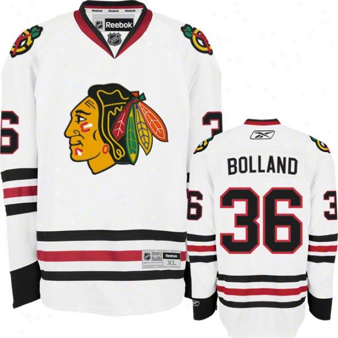 Dave Bolland Jersey: Reebok White #36 Chicago Blackhawks Premier Jersey