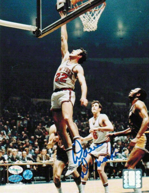 Dave Debusschere New York Knicks Autographed 8x10 Photo Layup