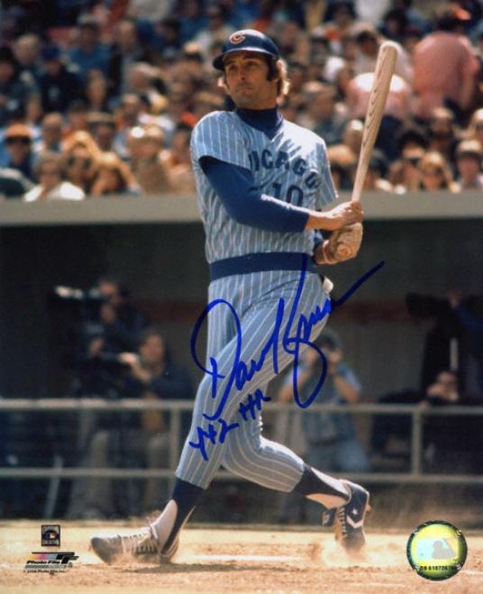 Dave Kingman Chicago Cubs Autographed 8x10 Photo W/ Inscription &quot442 Hr&quot