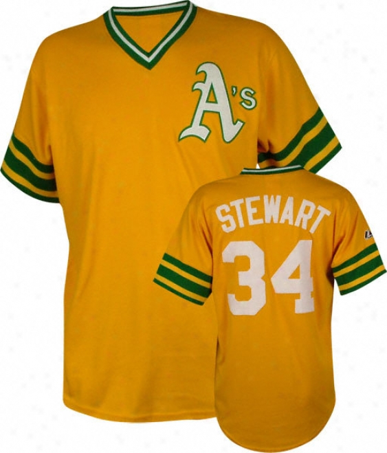 Dave Stewart Majestic Cooperstown Throwback Oakland Athetics Jresey